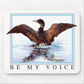 Dancing Loon by Jane Freeman Mouse Pad