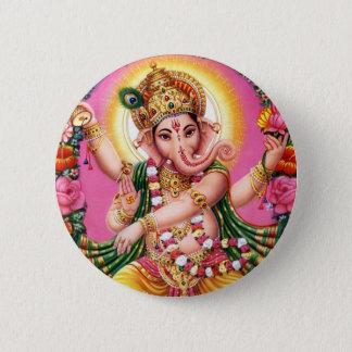 Dancing Lord Ganesha Button
