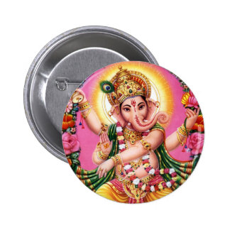 Dancing Lord Ganesha 2 Inch Round Button