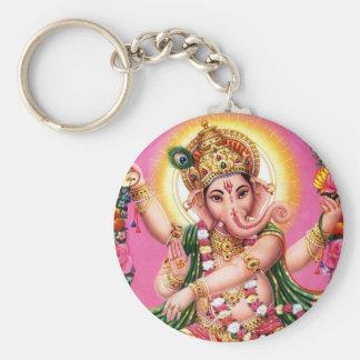 Dancing Lord Ganesha Basic Round Button Keychain