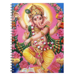 Dancing Lord Ganesha Spiral Note Books