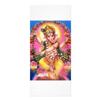 Dancing Lord Ganesha Rack Card Template