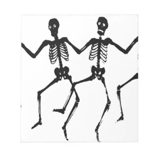 Dancing Macabre Halloween Skeletons Notepad