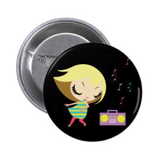 Dancing Maddie 2 Inch Round Button