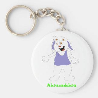 Dancing Magic Brawl Rabbit Basic Round Button Keychain