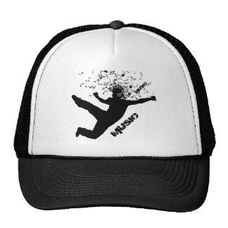Dancing Man, Black Silhouette Music Concept Design Trucker Hat