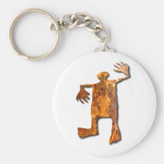 Dancing Man rust Keychain