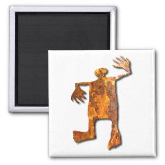 Dancing Man rust Refrigerator Magnet