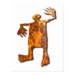 Dancing Man rust Postcard