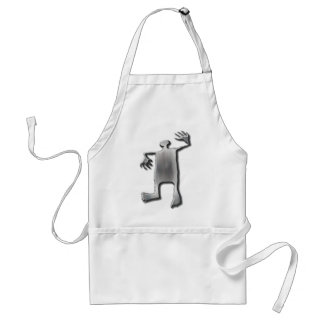 Dancing Man stainless steel Aprons