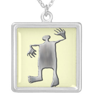 Dancing Man stainless steel Silver Plated Necklace