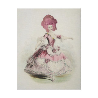 Dancing Marie Antoinette ~ Wrapped Canvas Stretched Canvas Prints