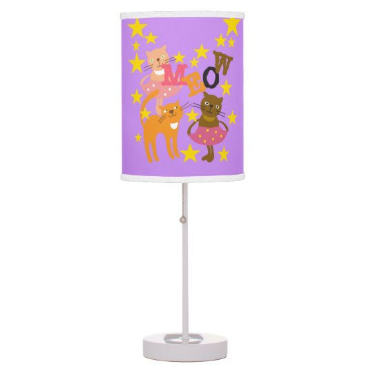 Dancing MEOW Cats Table Lamp