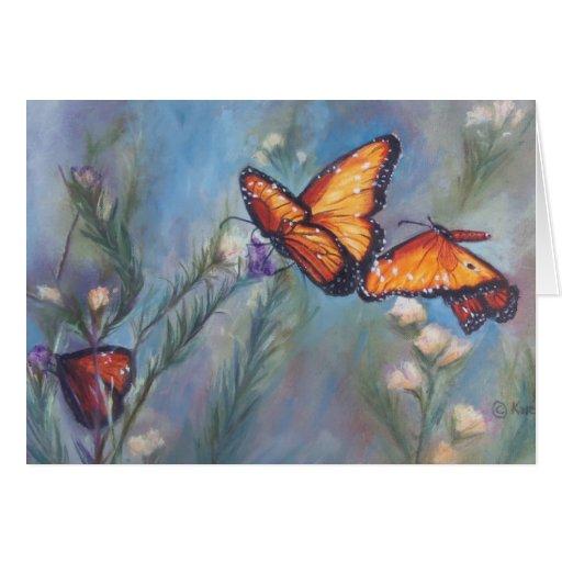 Dancing Monarchs Card