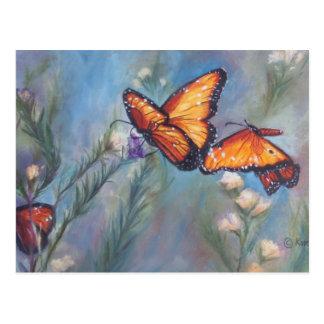 Dancing Monarchs Postcard