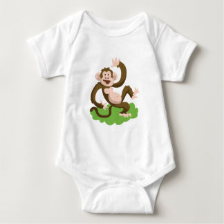 dancing monkey baby bodysuit