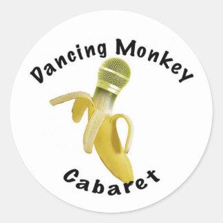 Dancing Monkey Cabaret Classic Round Sticker