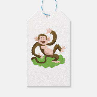 dancing monkey gift tags