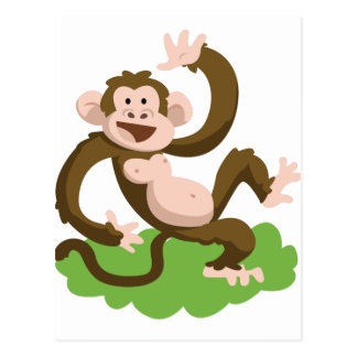 dancing monkey postcard