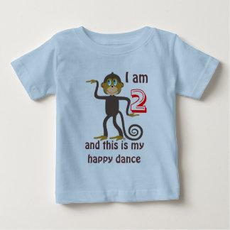 Dancing monkeys, 2nd birthday, personalized t-shirt