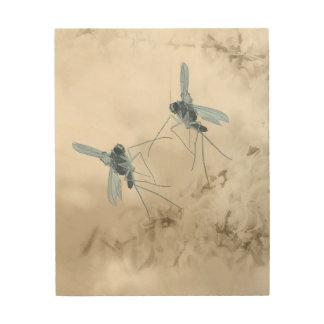Dancing Mosquito Wood Wall Art