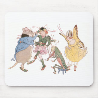 Dancing Mouse and Fairies Mousepad