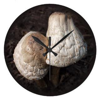 Dancing Mushrooms Duo Large Clock