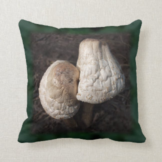 Dancing Mushrooms Duo Throw Pillow