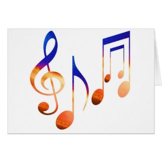 Dancing Music Signs Cards