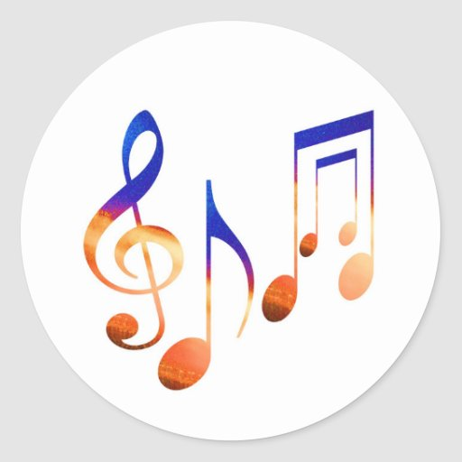Dancing Music Signs Stickers