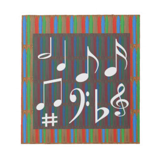 Dancing Music Symbols Fans Students Masters Player Notepad