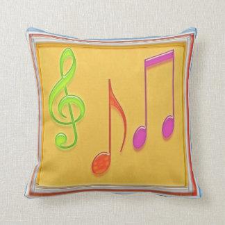 Dancing Music Symbols -  Fun Graphic Throw Pillow