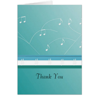 Dancing Musical Notes Thank You Stationery Note Card