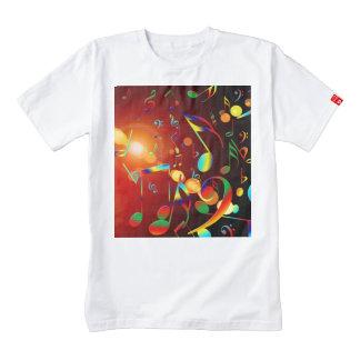 Dancing Musical Notes Zazzle HEART T-Shirt