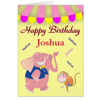 Dancing Name Circus Birthday Greeting Card