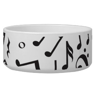 Dancing Notes in Black & White Bowl