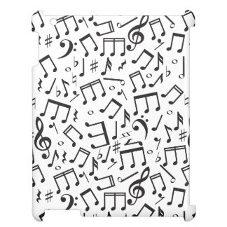 Dancing Notes in Black & White iPad Case