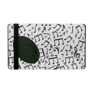 Dancing Notes in Black & White iPad Covers