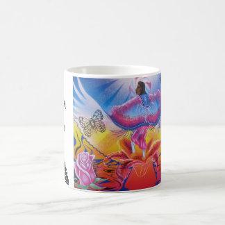 Dancing on flowers coffee mug