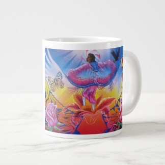 Dancing on flowers extra large mugs