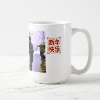 Dancing on ice coffee mug