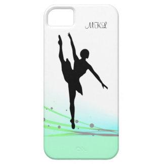 Dancing on Light Ballet Ballerina Silhouette Aqua iPhone SE/5/5s Case