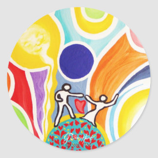 Dancing On Moonbeams Classic Round Sticker