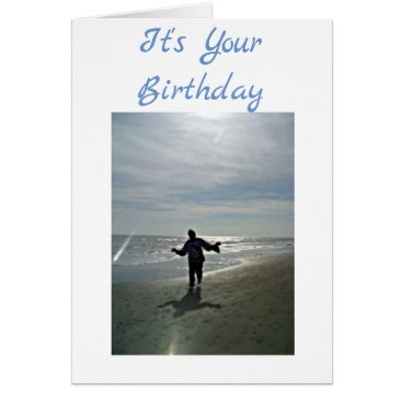 ***DANCING ON THE BEACH*** CELEBRATE YOUR BIRTHDAY CARD