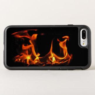 Dancing Orange Fire Black OtterBox Symmetry iPhone 7 Plus Case