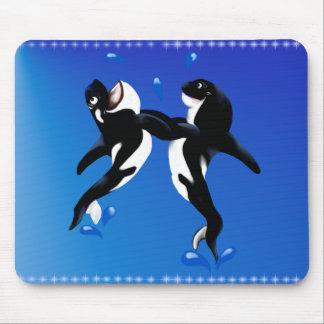 Dancing Orcas Mousepad