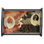 Dancing Oriental Cranes Serving Tray