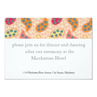 Dancing Paisley Wedding Stationery Card