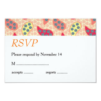 Dancing Paisley Wedding Stationery Personalized Announcements
