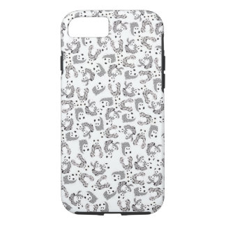 Dancing Pandas Pattern Illustration iPhone 7 Case
